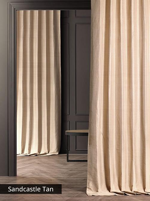 Hand Woven Cotton Stripe Curtains