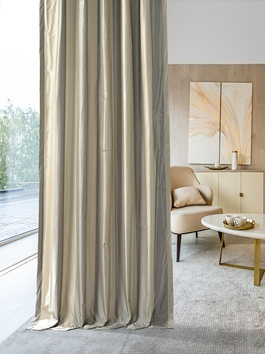 Designer Silk Stripe Curtains