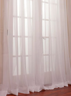 Doublewide Voile Sheer Curtains