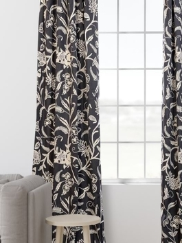 Embroidered Cotton Crewel Curtains