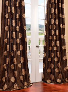 Embroidered & Patterned Faux Silk Curtains