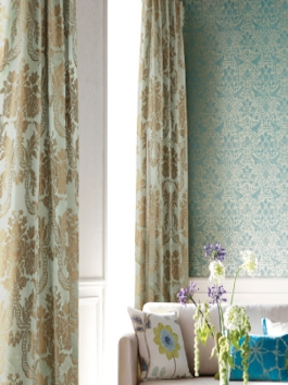 Faux Silk Jacquard Curtains