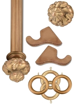 Historical Gold Wooden Hardware