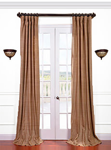 Raw Silk Curtains