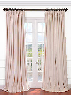 Signature Double Wide Velvet Blackout Curtains
