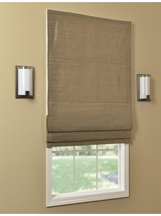 Textured Dupioni Silk Roman Shades