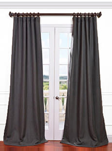 Textured  Faux Linen Curtains