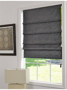 Velvet Blackout Roman Shades