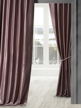 Vintage Textured Faux Dupioni Silk Curtains