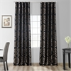 Astoria Black & Pewter Faux Silk Jacquard