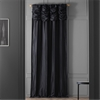 Ruched Midnight Black Thai Silk