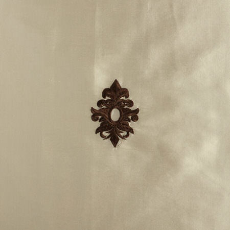 Mirror Embroidered Pearl White Silk Swatch