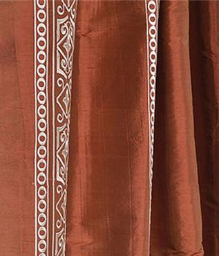 Istanbul Cayenne Silk Swatch