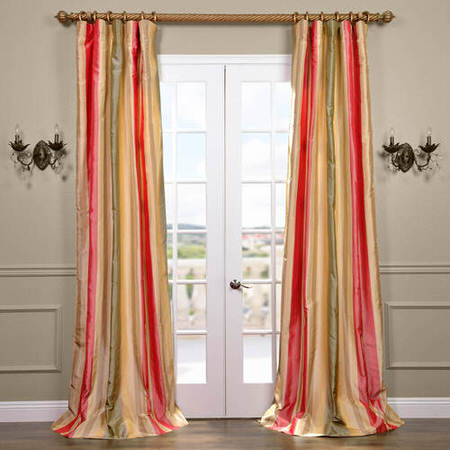 Bellevue Silk Taffeta Stripe Curtain