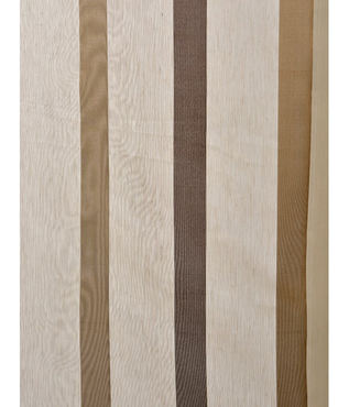 Carlton Taupe Linen Blend Stripe Sheer Swatch