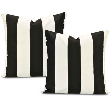 Cabana Black Printed Cotton Cushion Cover