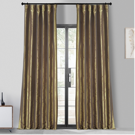 Gold Nugget Blackout Faux Silk Taffeta Curtain