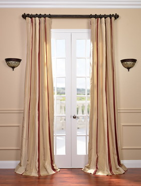 Manchester Faux Silk Taffeta Stripe Curtain