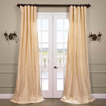 Creme Parfait Silk Taffeta Curtain