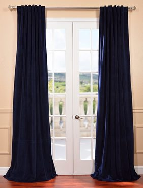 Signature Federal Blue Blackout Velvet Curtain
