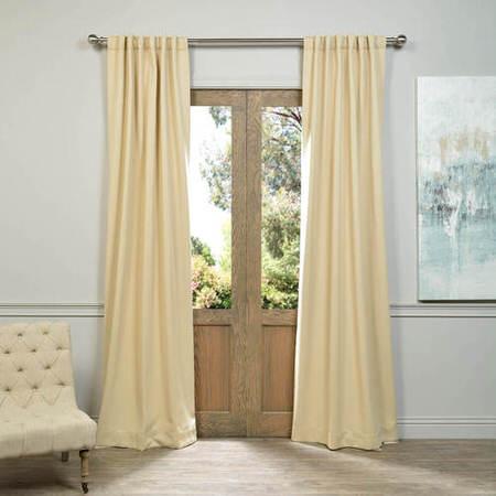 Pole Pocket Biscotti Blackout Curtain