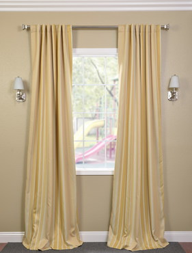 Sundip Stripe Blackout Back-Tab Pole Pocket Curtain