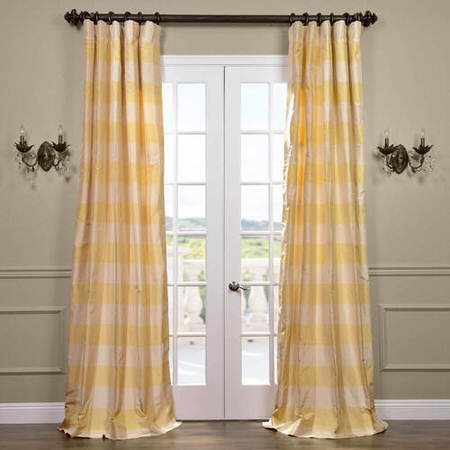 Knotts Landing Silk Taffeta Plaid Curtain