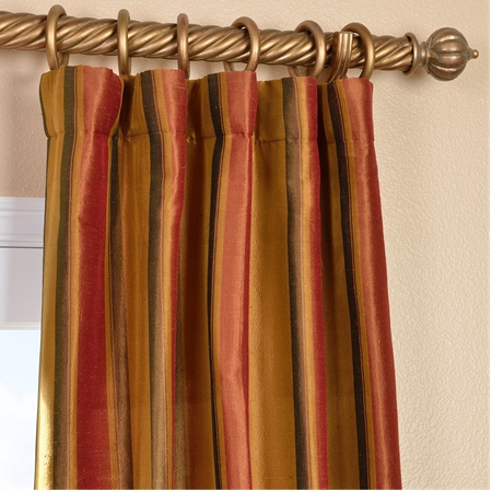 waterford gold silk stripe curtain bengali silk stripe curtain