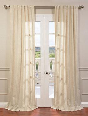 Lanai Natural Linen Blend Stripe Curtain
