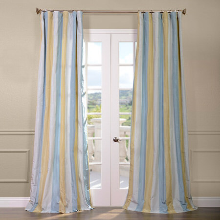 Catalina Faux Silk Taffeta Stripe Curtain