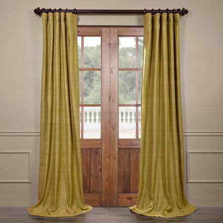 Spanish Moss Raw Silk Curtain