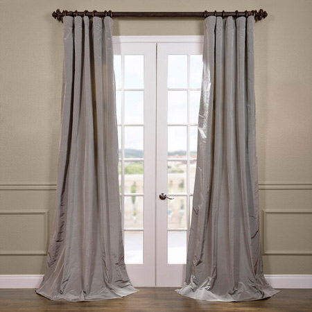 Nickel Silk Taffeta Curtain