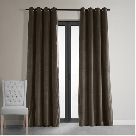Signature Java Grommet Blackout Velvet Curtain