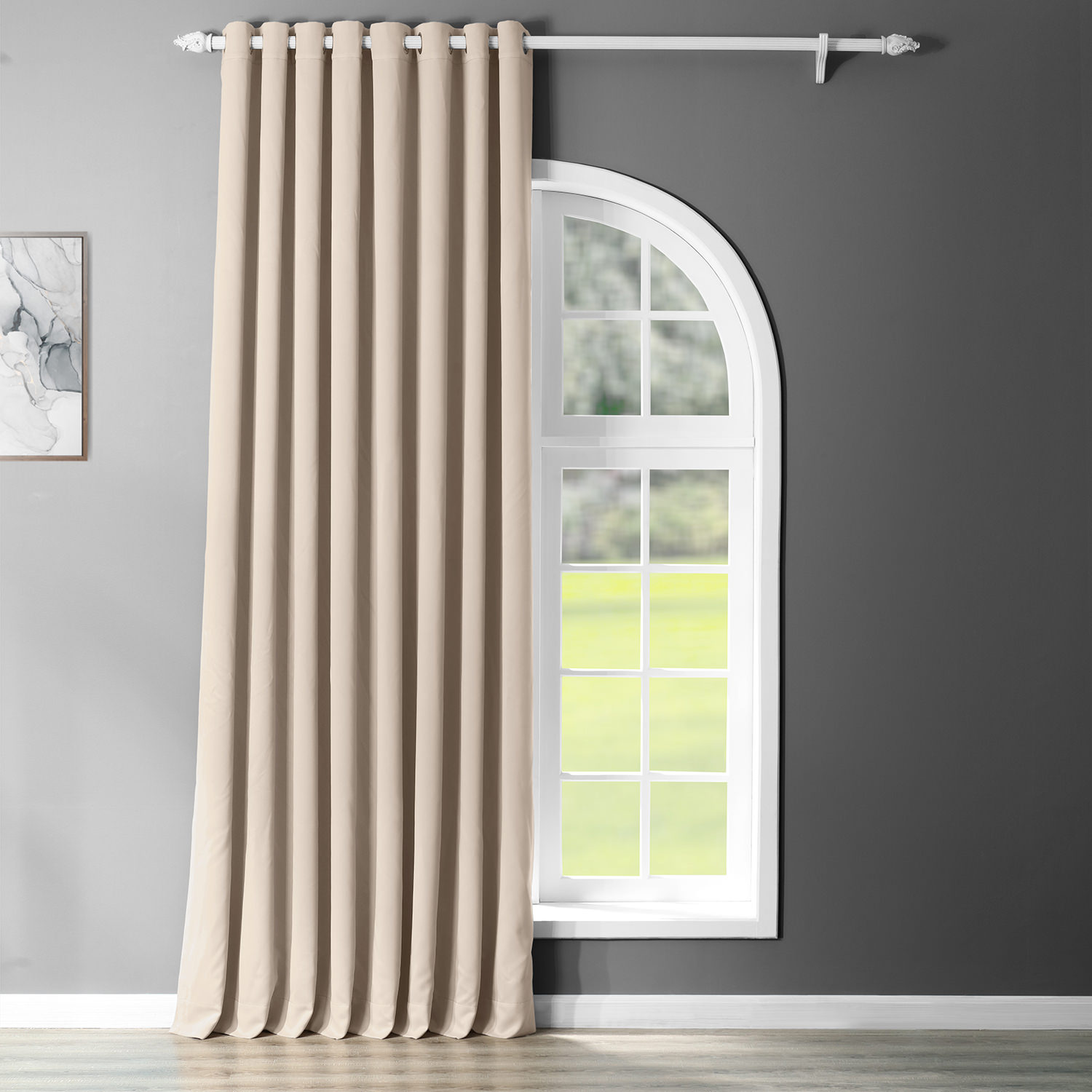 Eggnog Grommet Doublewide Blackout Curtain