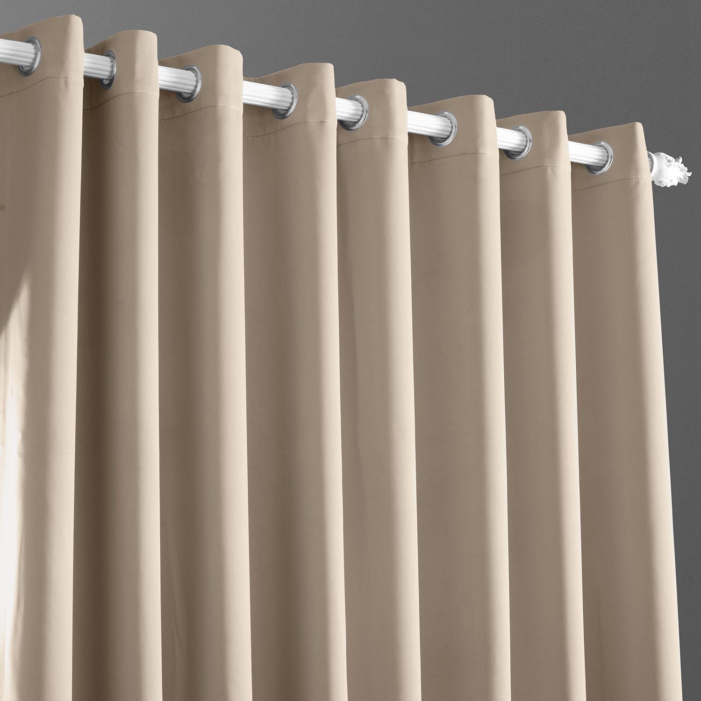 Eggnog Grommet Doublewide Blackout Curtain