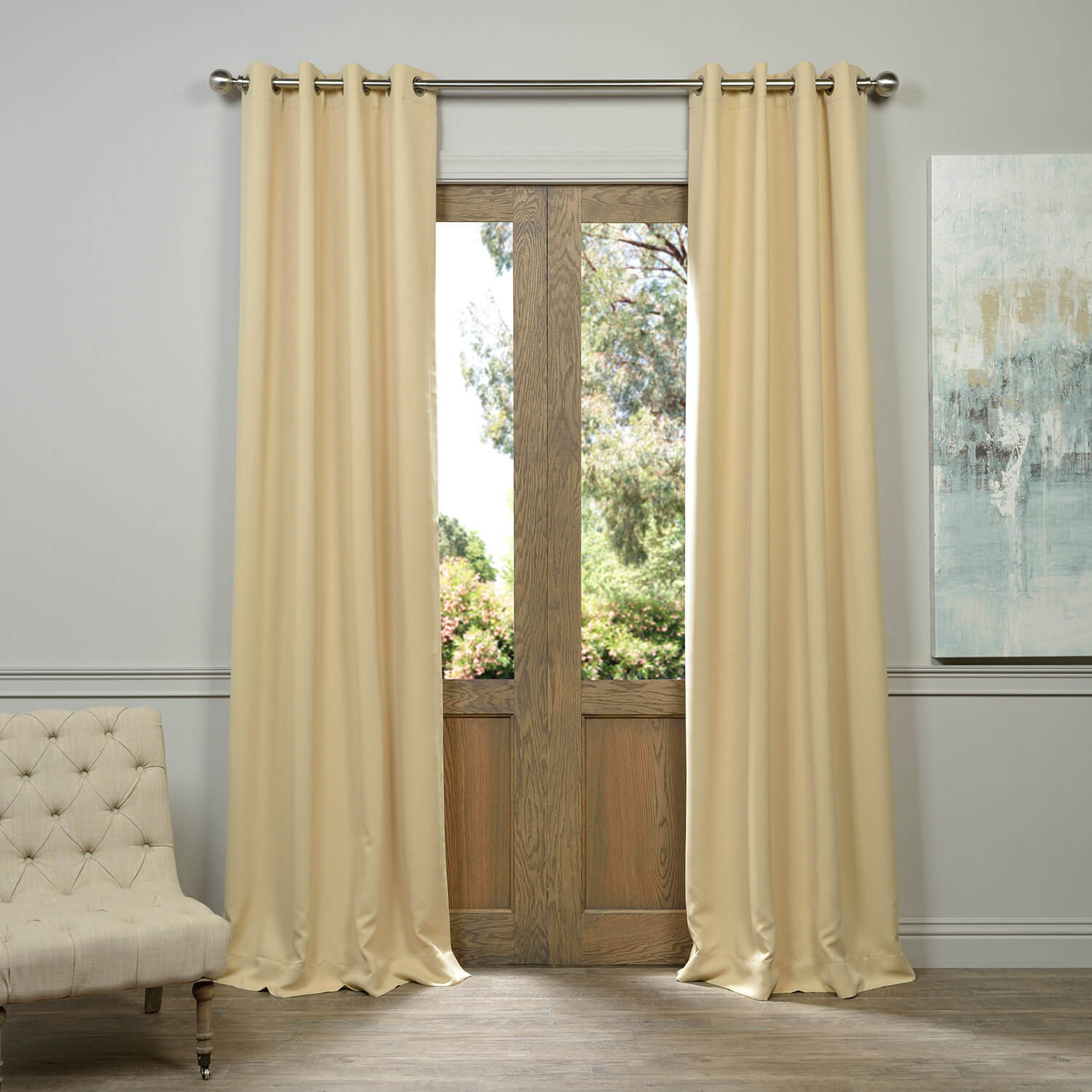 Grommet Biscotti Blackout Curtain
