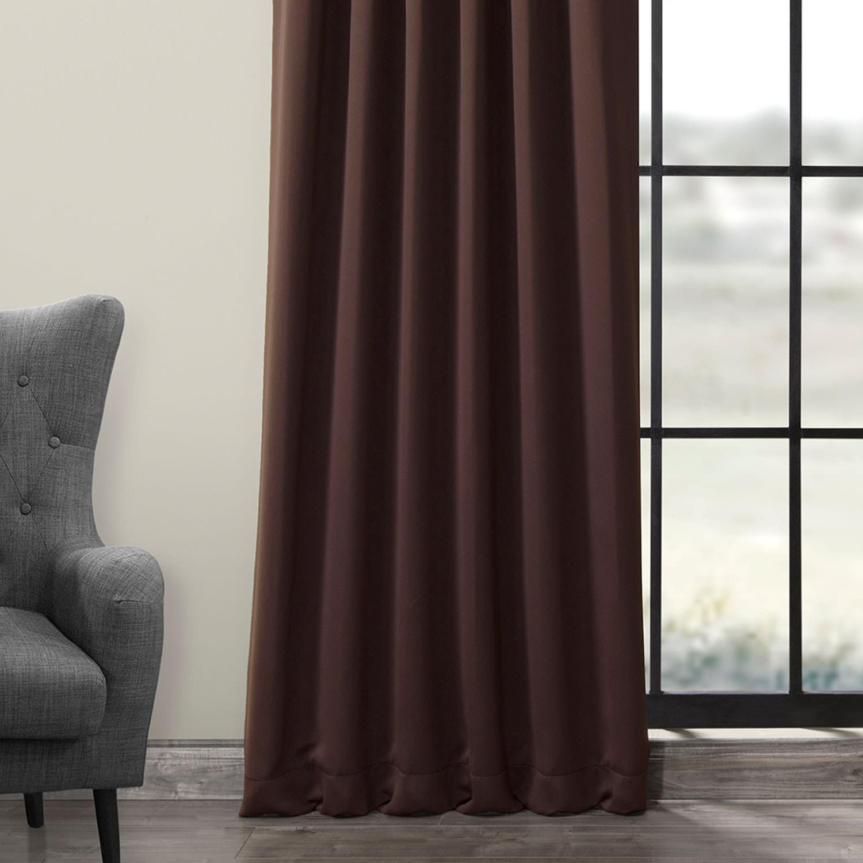 Pole Pocket Java Blackout Curtain