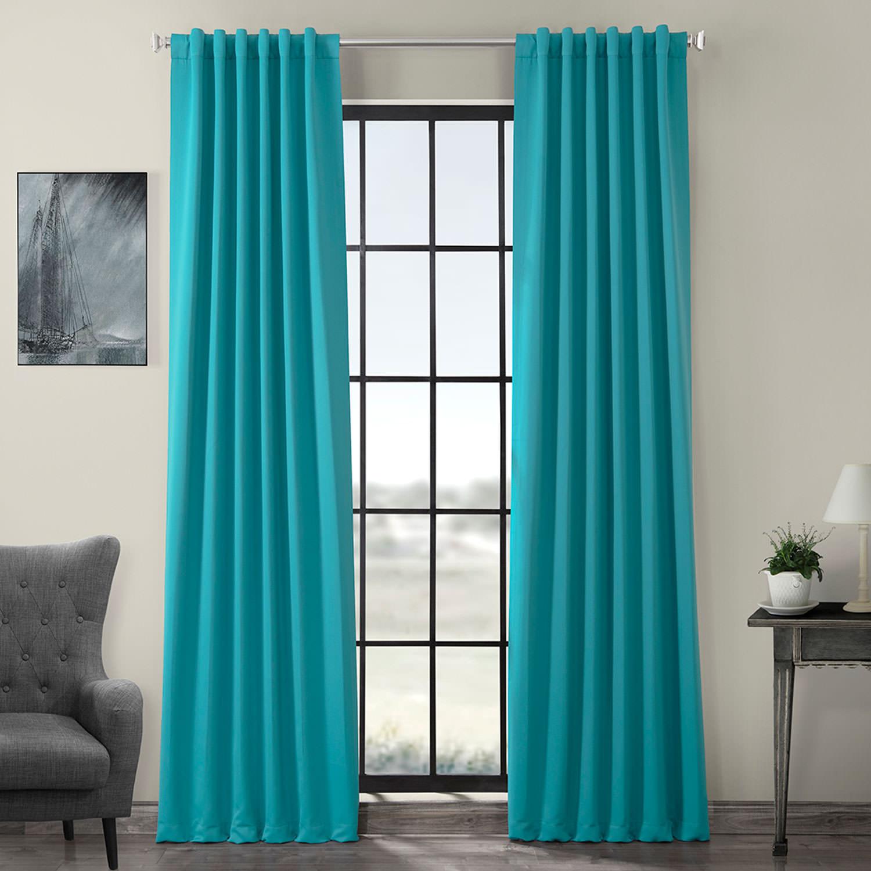 Turquoise Blue Blackout Curtain