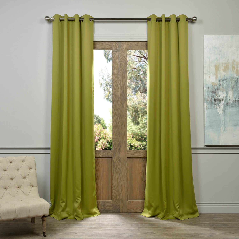 Moss Green Grommet Blackout Curtain