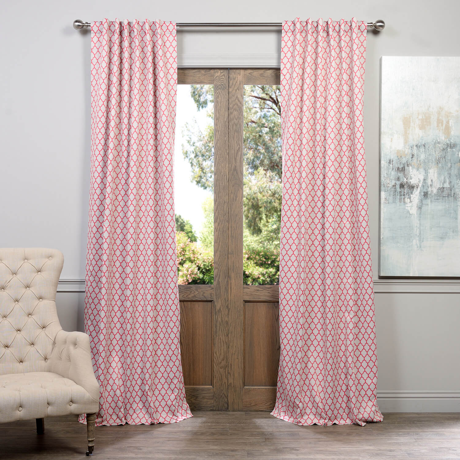 Casablanca Rose Blackout Curtain