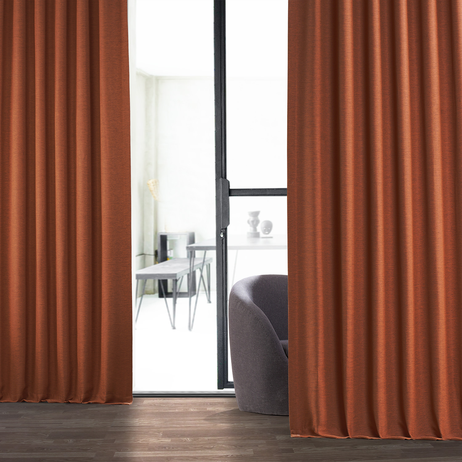 Persimmon Bellino Blackout Curtain