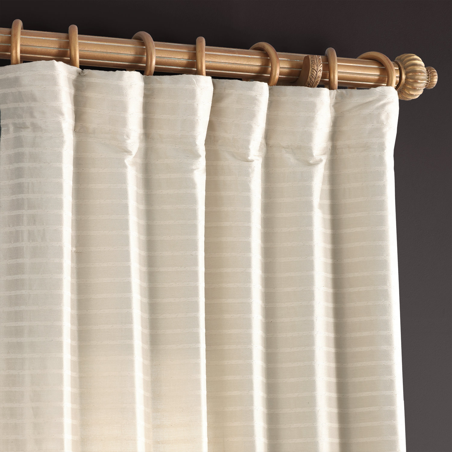White Hand Weaved Cotton Curtain
