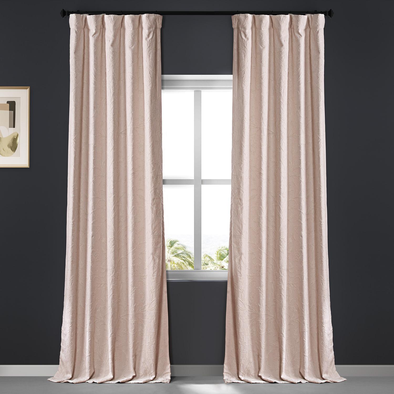 Aurora Embroidered Cotton Crewel Curtain