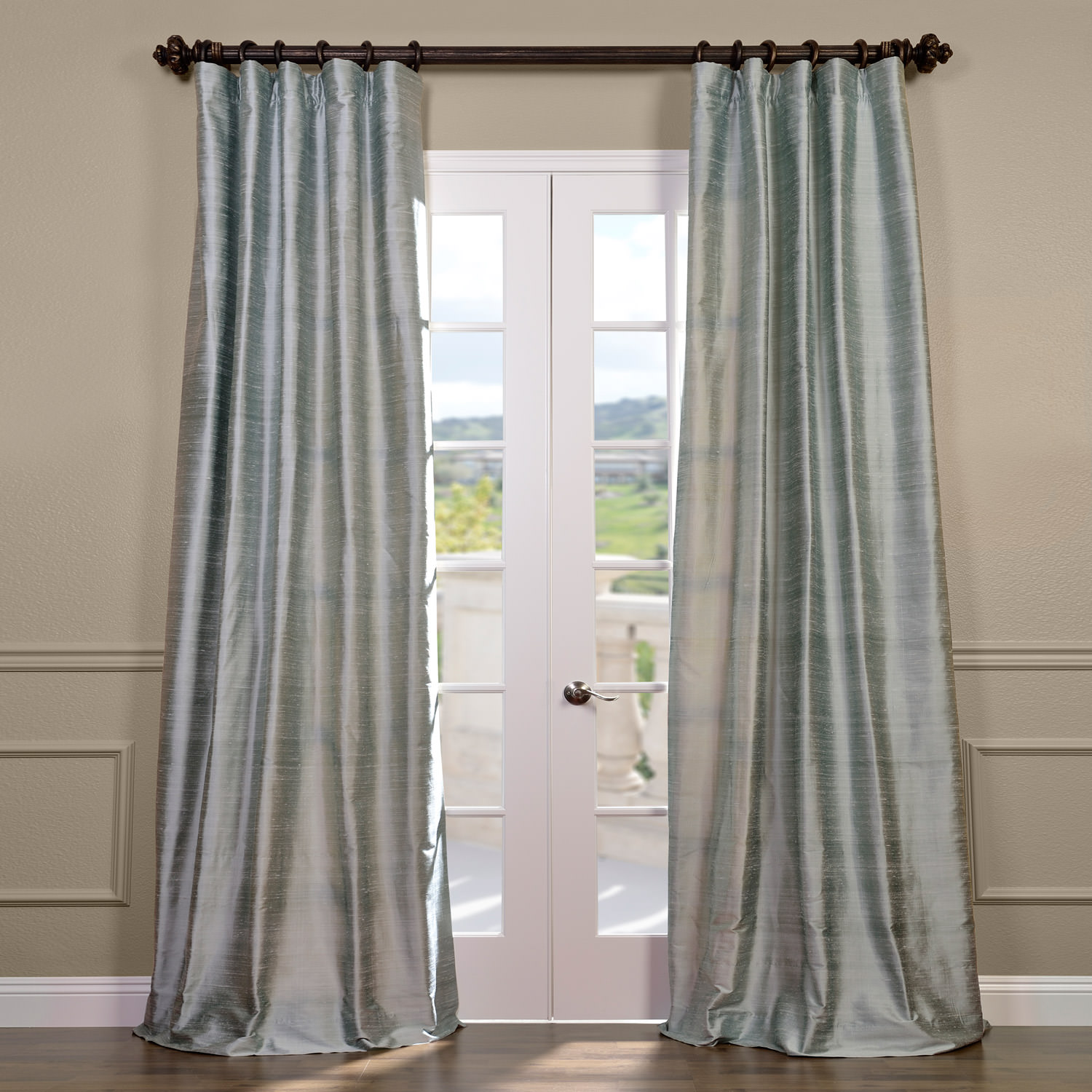 Shoreline Textured Dupioni Silk Curtain