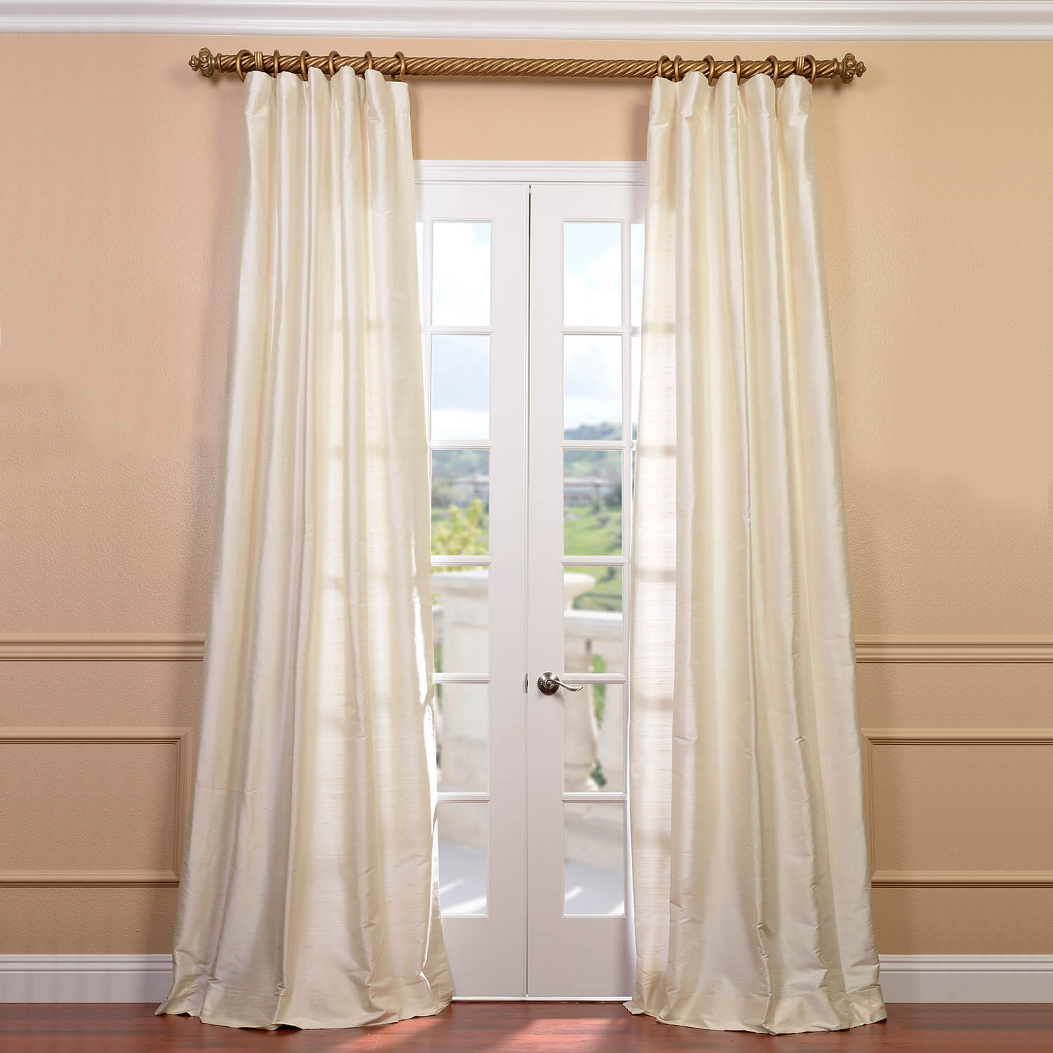 Pearl Textured Dupioni Silk Curtain