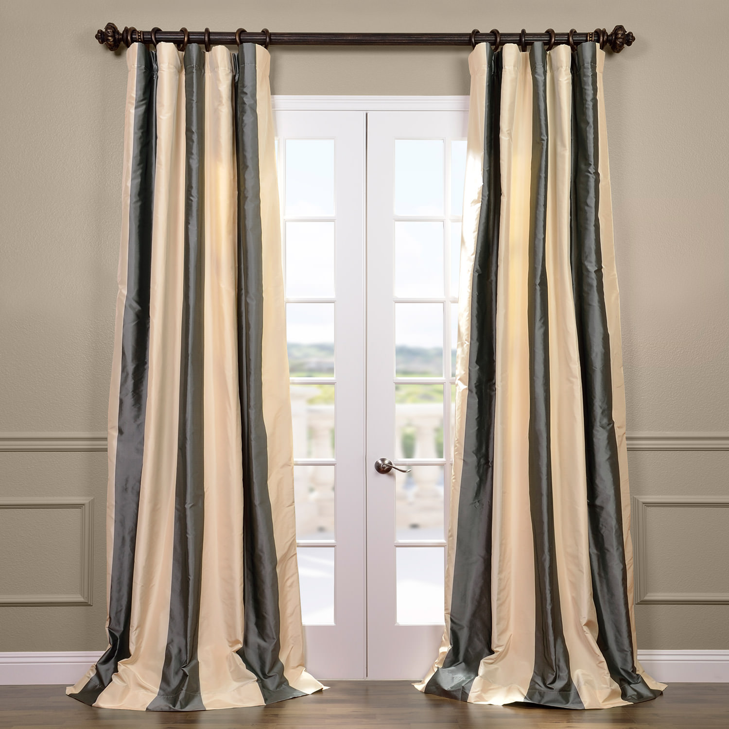Nob Hill Silk Stripe Curtain