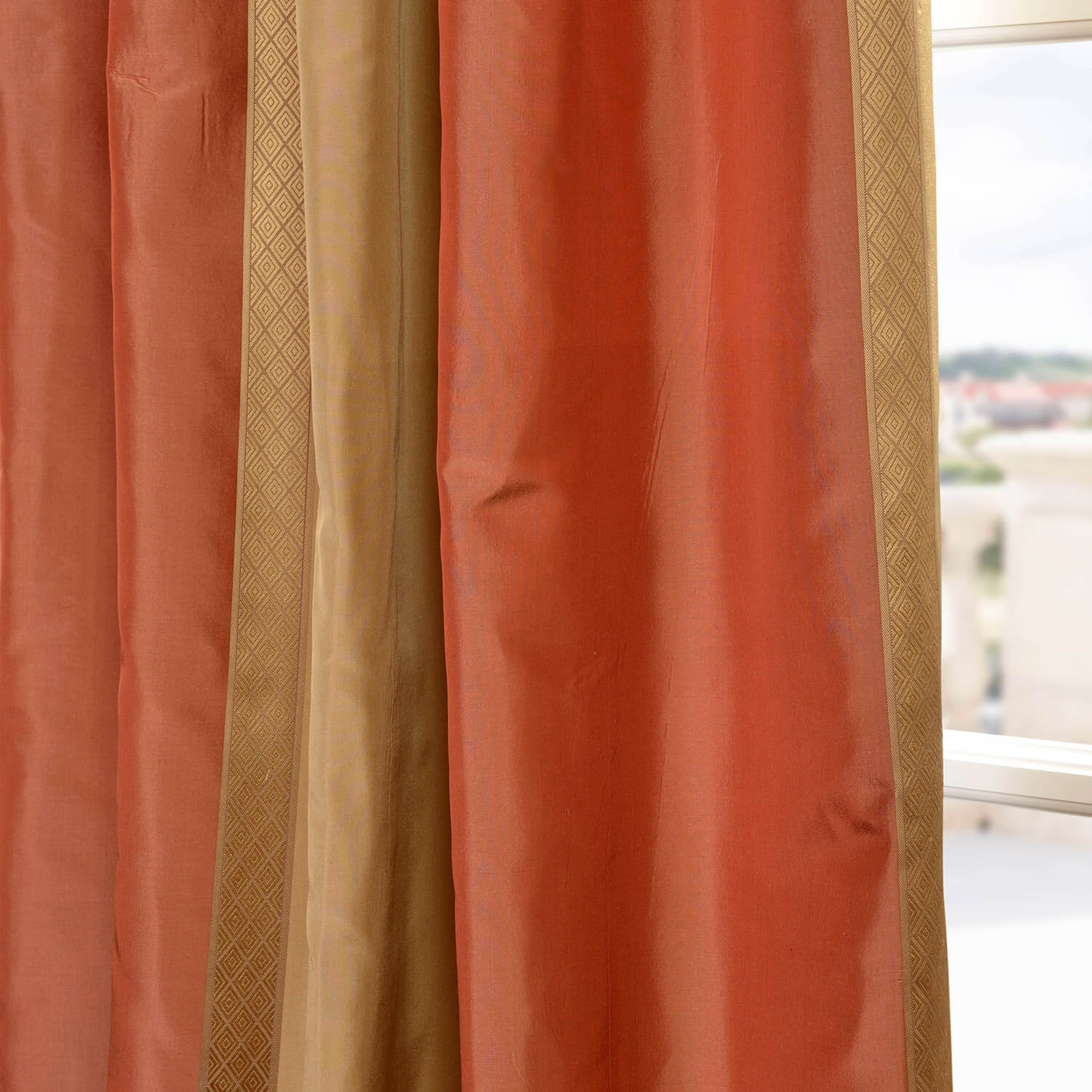 Somerset Silk Stripe Curtain