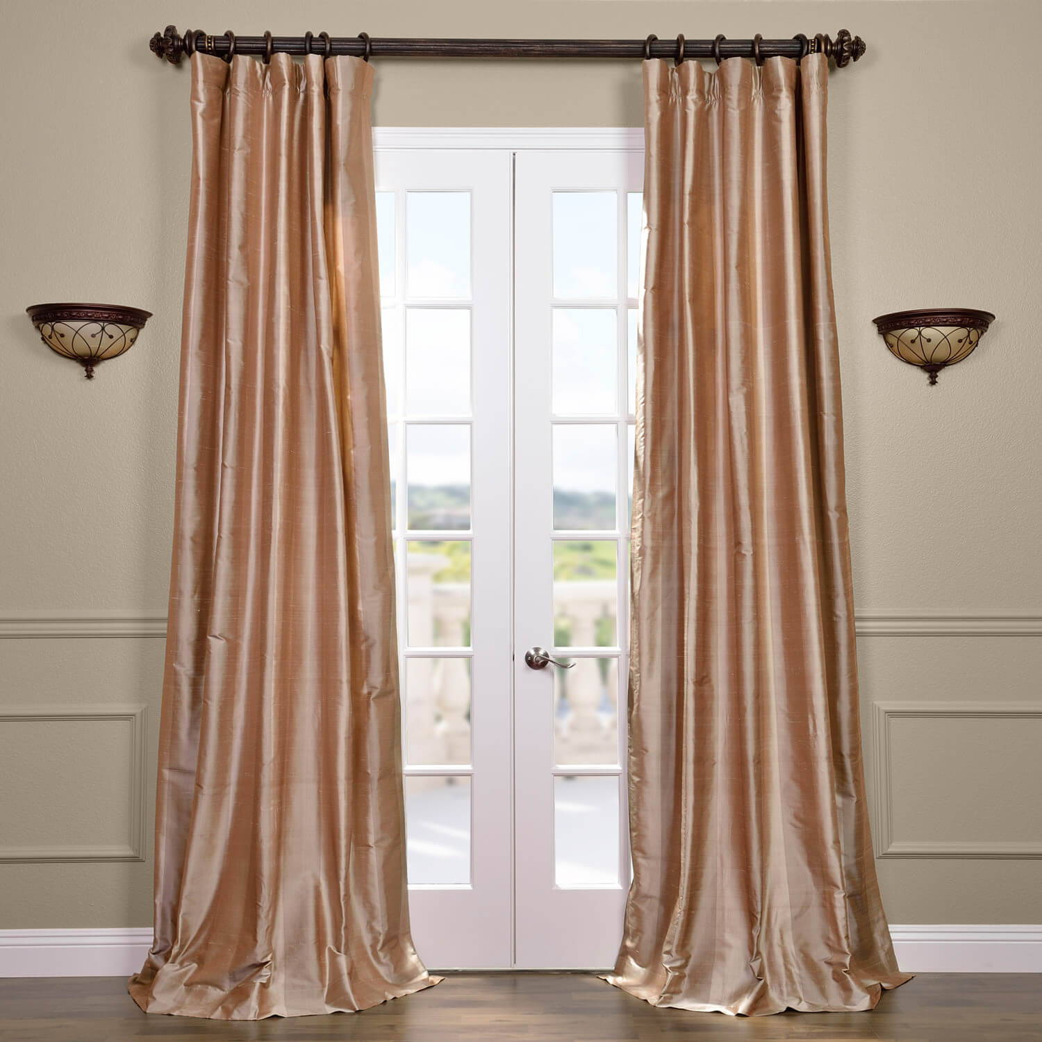 Cairo Dune Silk Stripe Curtain