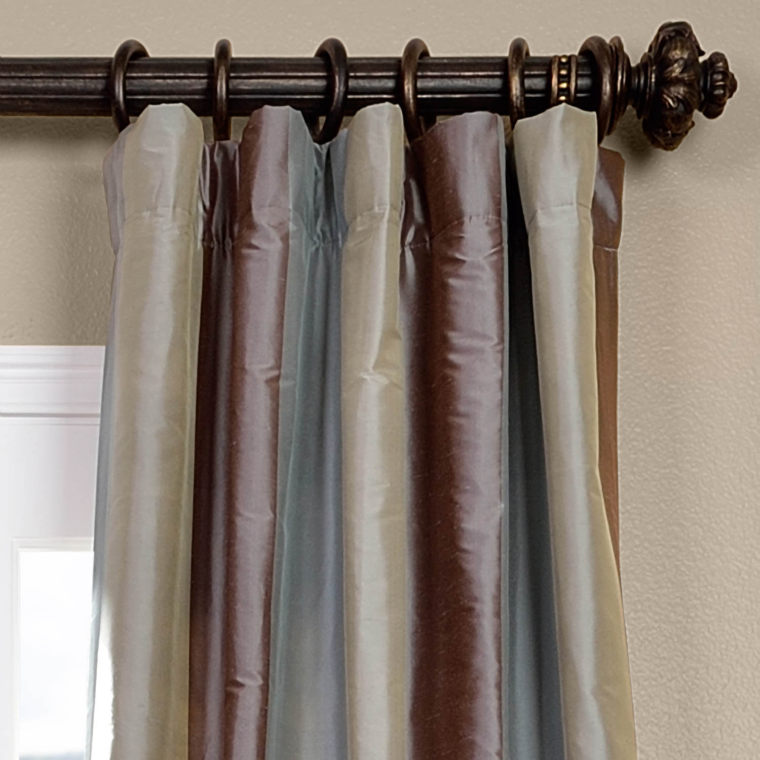 Varadero Silk Stripe Curtain