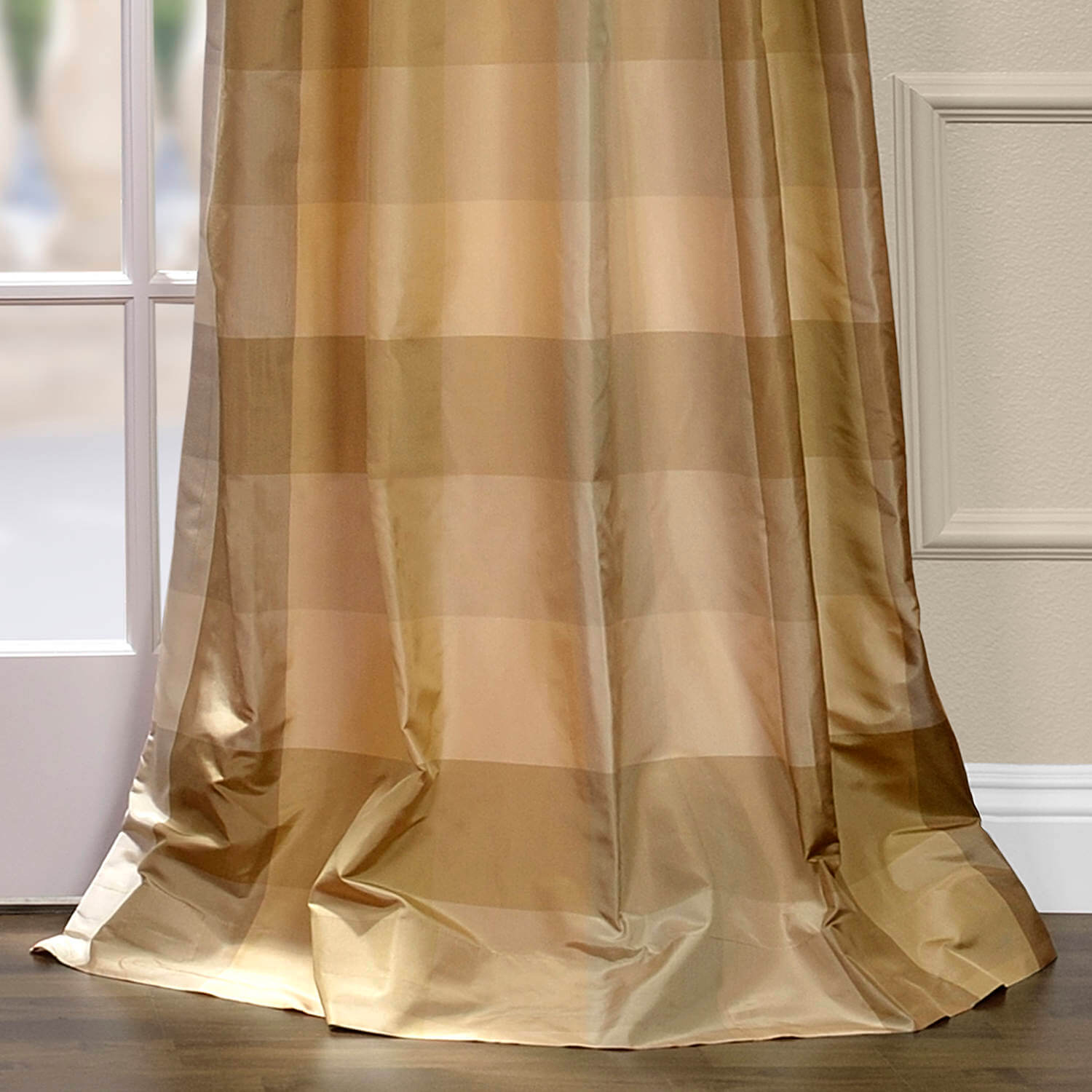 Newman Silk Taffeta Plaid Curtain